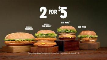 Burger King Big King TV Spot, 'Dos por $5: Más Carne' [Spanish] - Thumbnail 3