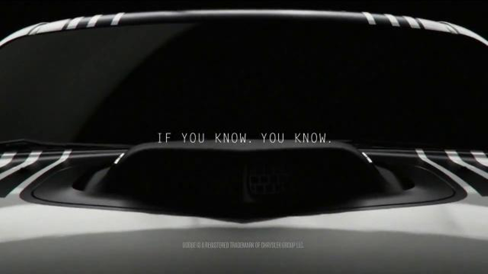 Dodge Challenger Tv Commercial If You Know You Know Hood Ispot Tv