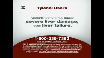 Sokolove Law TV Spot, 'Tylenol'