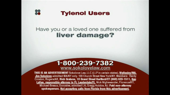 Sokolove Law TV Spot, 'Tylenol' - Thumbnail 3