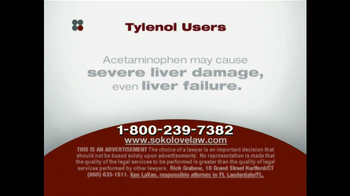 Sokolove Law TV Spot, 'Tylenol' - Thumbnail 6