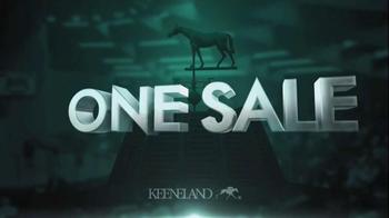 Keeneland September Sale TV Spot, 'One Sale' - Thumbnail 1