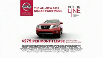 2013 Nissan Pathfinder TV Spot, 'Bottom Line Model Year-End Event' - Thumbnail 7