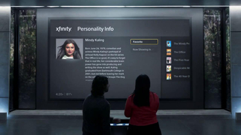 XFINITY X1 Entertainment Operating System TV Spot, 'Sexy' Ft. Mindy Kaling - Thumbnail 3