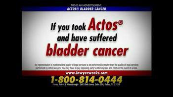 Ferrer, Poirot and Wansbrough TV Spot, 'Actos Bladder Cancer'