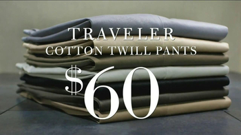 JoS. A. Bank TV Spot, 'Traveler Cotton Twill Pants'