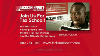 Jackson Hewitt Tax School TV Spot