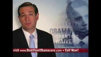 Senate Conservatives Fund TV Spot, 'Don't Fund Obama Care' - Thumbnail 4