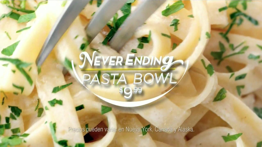 Olive garden never ending pasta bowl commercial televisivo for Olive garden endless pasta bowl