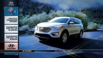 Hyundai Summer Clearance Top 5 Event TV Spot, 'Sonata & Elantra' - Thumbnail 1