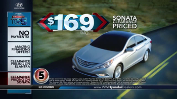 Hyundai Summer Clearance Top 5 Event TV Spot, 'Sonata & Elantra' - Thumbnail 3