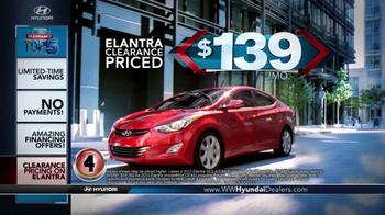 Hyundai Summer Clearance Top 5 Event TV Spot, 'Sonata & Elantra' - Thumbnail 4