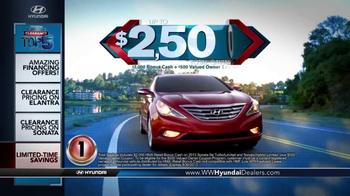 Hyundai Summer Clearance Top 5 Event TV Spot, 'Sonata & Elantra' - Thumbnail 6