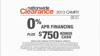 Toyota Nationwide Clearance Event TV Spot, 'Camry Offer' - Thumbnail 6