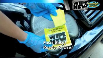 Wipe New Headlight Restore TV Spot