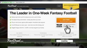 FanDuel Fantasy Football One-Week League TV Spot, 'No Commitment' - Thumbnail 10