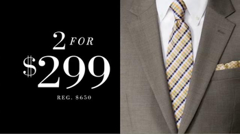 JoS. A. Bank Two for $299 Suit Event TV Spot, 'Slim and Traditional Suits' - Thumbnail 4