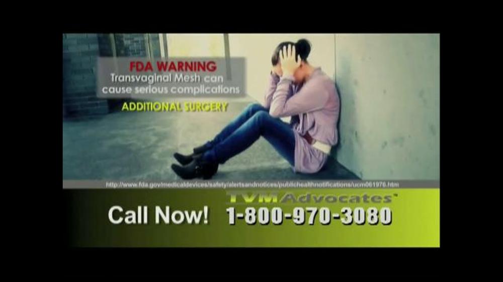 Pulaski Law Firm >> TVM Advocates TV Commercial, 'Transvaginal Mesh' - iSpot.tv