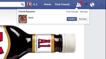 A1 Steak Sauce TV Spot, 'New Friend Requests' - Thumbnail 3
