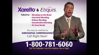 Goldwater Law Firm TV Spot, 'Xarelto and Eliquis' - Thumbnail 3