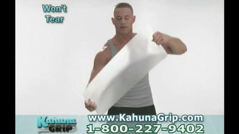 Kahuna Grip TV Spot, 'Sure-Footed Solution: Bonus Foot Scrubber'