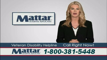 Mattar Veteran Advocates Disability Helpline TV Spot - Thumbnail 3