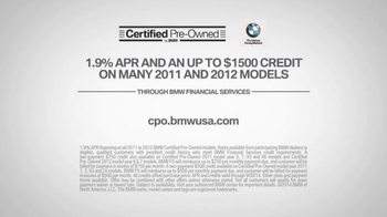 BMW Certified Edge Sales Event TV Spot, 'Baby' - Thumbnail 10