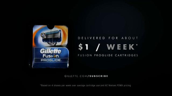 Gillette ProGlide Razor Blade Subscription TV Spot, 'Never Run Out' - Thumbnail 7