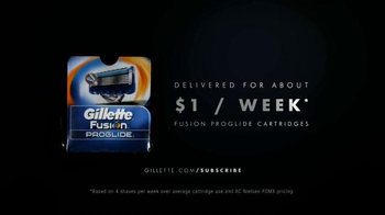 Gillette ProGlide Razor Blade Subscription TV Spot, 'Never Run Out'