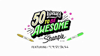 Sharpie Metallic and Neon Markers TV Spot, '50 Ways to be Awesome' - Thumbnail 2