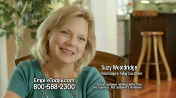 Empire Today Buy One Get One Free Sale TV Spot, 'Suzy Wooldridge' - Thumbnail 3