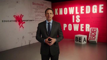 The More You Know TV Spot, 'Be a Teacher' Featuring Seth Meyers - 13 commercial airings