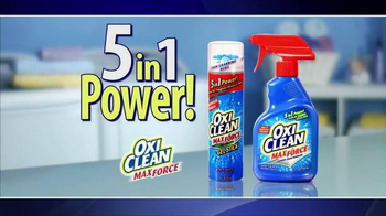 OxiClean MaxForce TV Spot, '5 in 1 Power' - 12160 commercial airings