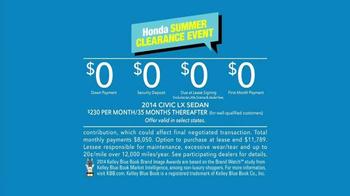 Honda Civic Summer Clearance Event TV Spot, 'Beth' - Thumbnail 10