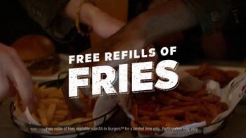 Applebee's Triple Bacon Burger TV Spot, 'Bacon, Bacon, Bacon & Free Fries' - Thumbnail 7