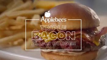 Applebee's Triple Bacon Burger TV Spot, 'Bacon, Bacon, Bacon & Free Fries' - Thumbnail 9