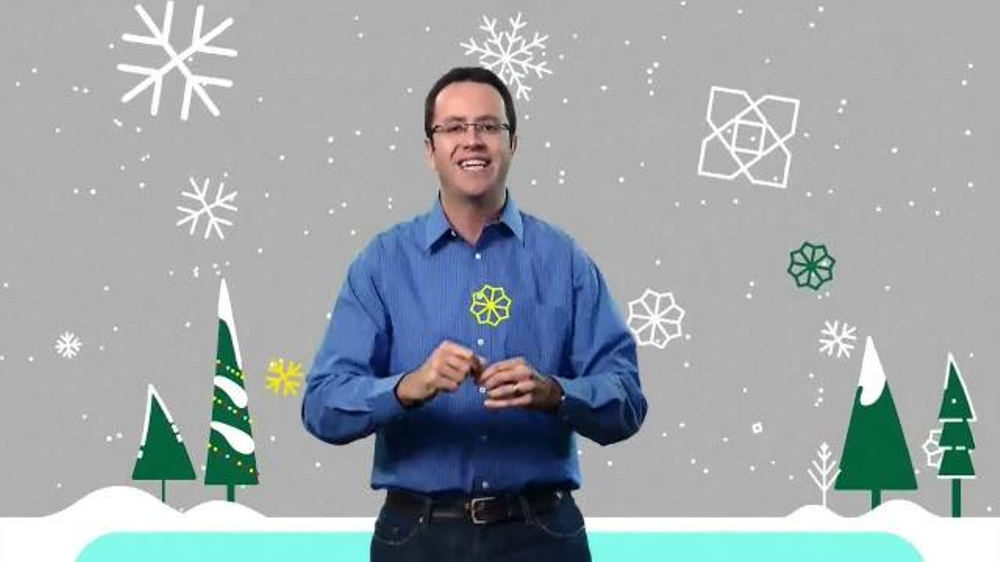 Subway $2 Holiday Customer Appreciation Month TV Commercial Featuring Jared Fogle