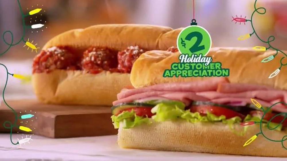 subway 2 holiday customer appreciation month tv