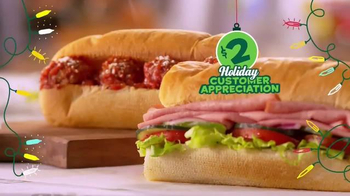Subway $2 Holiday Customer Appreciation Month TV Spot Featuring Jared Fogle - Thumbnail 5