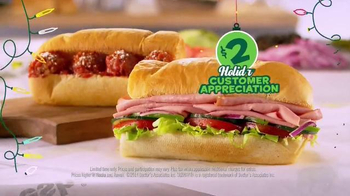 Subway $2 Holiday Customer Appreciation Month TV Spot Featuring Jared Fogle - Thumbnail 8