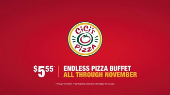 CiCi's Pizza Endless Buffet TV Spot, 'Better than Ever' - Thumbnail 10