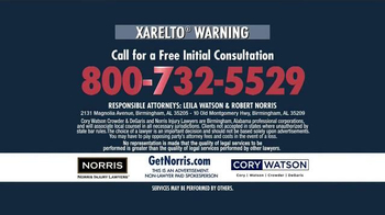 Norris Injury Lawyers TV Spot, 'Xarelto' - Thumbnail 10