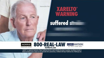 Norris Injury Lawyers TV Spot, 'Xarelto' - Thumbnail 2