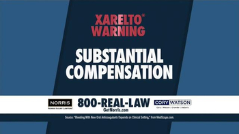 Norris Injury Lawyers TV Spot, 'Xarelto' - Thumbnail 4