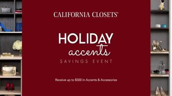 California Closets Holiday Accents Saving Event TV Spot - Thumbnail 1