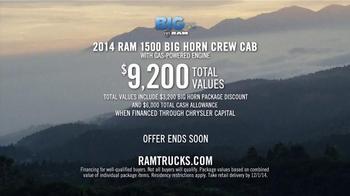 Ram Trucks 2014 Big Finish TV Spot, '2014 Ram 1500 Big Horn Crew Cab' - Thumbnail 10