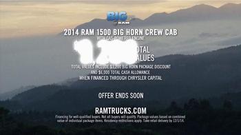 Ram Trucks 2014 Big Finish TV Spot, '2014 Ram 1500 Big Horn Crew Cab' - Thumbnail 9