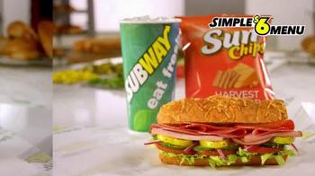Subway Simple $6 Menu TV Spot, 'Nuestros Mejores Subs' [Spanish] - Thumbnail 3