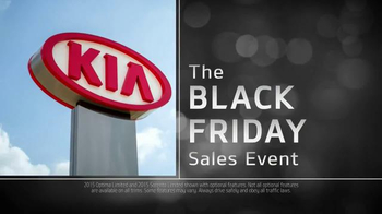 2015 Kia Optima and 2015 Kia Sorento TV Spot, 'Black Friday Deals'