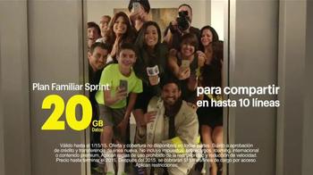 Sprint Family Share Pack TV Spot, 'Univision: Ascensor' [Spanish] - 53 commercial airings